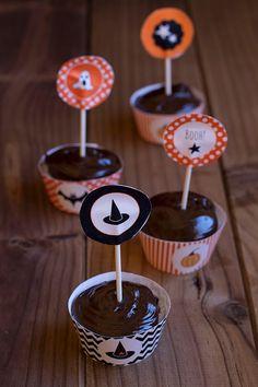 Cupcakes de chocolate con ganache, deliciosamente terroríficos - Cocinando Sabores