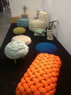 Diy Crafts - -Collection of seats with weave patterns diyfurniturepallets