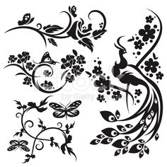 Design Floral série. style chinois royalty-free stock vector art