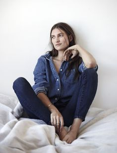 Madewell Homestead shirt worn with the High Riser Skinny Skinny jeans.