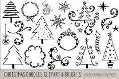 Afbeeldingsresultaat voor doodle christmas