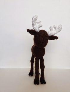 A[mi]dorable Crochet: Moose Pattern Crochet Deer, Crochet Animals, Free Crochet, Knit Crochet, Crochet Crafts, Crochet Dolls, Crochet Projects, Crocheted Toys, Knitting Projects