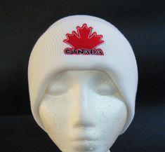 CANADA CANADIAN MAPLE LEAF WHITE UNISEX SKI HAT BEANIE HATS TOQUE TUQUE CHAPEAU Cool Belt Buckles, Canadian Maple Leaf, Ski Hats, Shopping World, Beanie Hats, Skiing, Winter Hats, Canada, Unisex