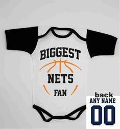 Newborn Boy Coming Home Outfit   Brooklyn Basketball Baby One Piece   Custom  Nets Jersey   Toddler Personalized Bodysuit   Infant Baby Gift da4c1f6b4