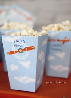 Airplane Printable Birthday Party | paper & cake