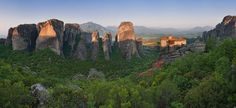 Roussanou Nunnery at sunrise. Meteora, Thessaly, Greece - Mike Reyfman Photography
