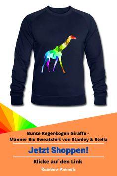 Du suchst ein passendes Sweatshirt im klassischem Stil? Hier ist es! Zum Beispiel mit diesem Giraffen Design! DIY: Oder gestalte ganz einfach selbst dein eigenes Sweatshirt in unserem Shop! #sweatshirt #herrenmode #herren #herrenstile #männer-stile #stile #Stanley&Stella #Tier #Animals #Giraffe #bunteGiraffe #Giraffenzeichnung