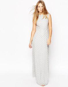 Image 1 ofNeedle & Thread Circle Mesh Embellished Maxi Dress