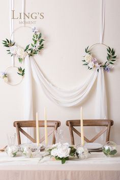 Wedding Arch Floral Kit – Flower Arrangement & Sheer Swag This is a large arrangement piece design for your wedding ceremony backdrop,wedding aisle archway decoration,sweetheart table flower decor,bride's and groom's chair back decor. Summer Wedding, Diy Wedding, Rustic Wedding, Spring Weddings, Wedding Tips, Elegant Wedding, Decoration Evenementielle, Flower Decorations, Hanging Decorations