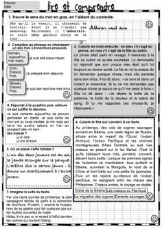 Fichier de lecture compréhension Teaching Tools, Teaching Kids, Teaching Resources, Kids Learning, Read In French, Learn French, French Teacher, Teaching French, Ontario Curriculum