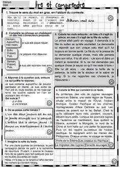3e-4e année ; fichiers de lecture, compréhension (Gammes) + Autres ressources très intéressantes !