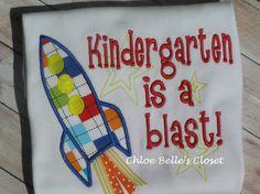 Kindergarten is a Blast shirt by juliesonny on Etsy, $25.00