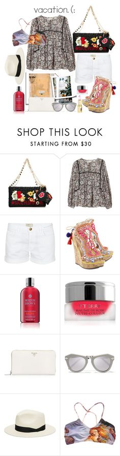 """That time of year..."" by sue-mes ❤ liked on Polyvore featuring Dolce&Gabbana, Rebecca Taylor, Current/Elliott, Schutz, Molton Brown, By Terry, Prada, Karen Walker and rag & bone"