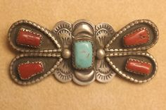 Navajo Zuni Hopi Dead Pawn Silver Turquoise Jewelry STOR Trading Post Pin Broach   eBay