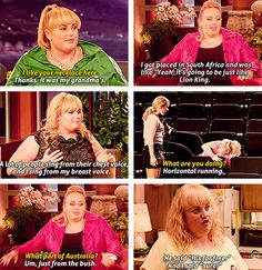 Rebel Wilson <3 she is hysterical! Would love to hang with this chick for a day!!!!