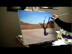 ▶ How to Paint a Desert Tree - Acrylic Painting Lesson - YouTube