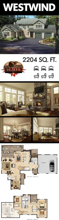 Truly a showstopper, this stunning two story great room home is wrapped in large windows. The perfect space for entertaining. #BeaverHomesAndCottages