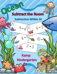Get Your Little Learners Up and Engaged in Practicing Subtraction Within 10!  $   #subtraction #subtractionwithin10 #ocean #beach #summer #kampkindergarten #teacherspayteachers  https://www.teacherspayteachers.com/Product/Ocean-Friends-Subtraction-Within-10-Subtract-the-Room-3777742