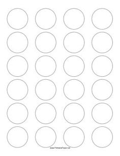 this printable paper has 24 15 inch circles for making labels or badges free to download and print - 1 Inch Circle Template