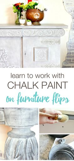 Learn how to work with chalk paint and waxes on furniture flips with Refunk My Junk's furniture painting e-course. Learn six new furniture finishes via in-depth tutorials and tons of furniture painting tips! Painted Furniture Ideas | How to paint furniture | How to Flip Furniture
