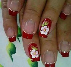 Cute Acrylic Nails, Cute Nails, Pretty Nails, Toe Nail Designs, Nail Polish Designs, Floral Nail Art, Beautiful Nail Designs, Flower Nails, Gorgeous Nails