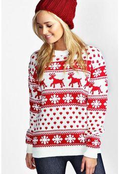 New Unisex Ladies Men Kids Christmas Jumper Reindeer Snowflakes Knitted Xmas Long Sweater Top Ladies Christmas Jumpers, Womens Christmas Jumper, Xmas Jumpers, Christmas Fashion, Christmas Shirts, Christmas Outfits, Red Christmas, Sequin Sweater, Ugly Sweater