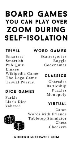 Play these board games with your friends or family over video chat to stay social while social distancing. Word Games, Fun Games, Games To Play, Chat Games, Family Game Night, Family Games, Star Citizen, House Party, Virtual Games For Kids