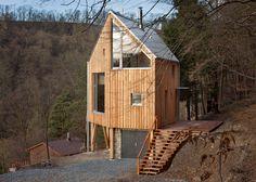 A Hexagonal House on a Hillside in Czech Republic - 539 sq ft - by A-LT Architekti - Czech Republic - exterior - photos : Humble Homes