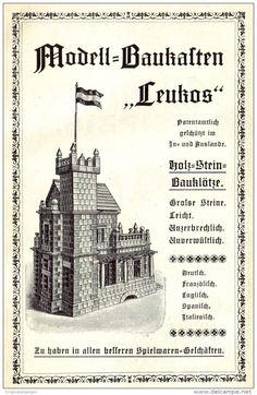 """Original-Werbung/ Anzeige 1904 - MODELL BAUKASTEN """"LEUKOS"""" -  ca. 110 x 160 mm"""