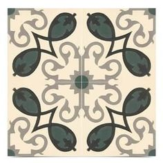 Shop for Agadir Royal in Green and Blue Handmade Moroccan 8 x 8 Inch Cement Floor and Wall Tile (Pack of 12). Get free delivery at Overstock.com - Your Online Home Improvement Shop! Get 5% in rewards with Club O! - 25613259