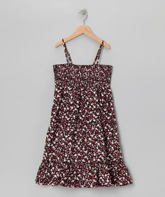Take a look at this blü Chocolate Floral Convertible Dress - Girls by blü on #zulily today!