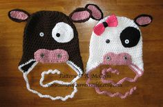 Molly Moo Cow Beanie and Earflap Hat - $2.99 by Ruth McColm