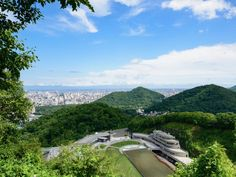 The Mount Okura observation deck provides impressive views of the sprawling city below.