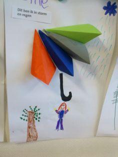 Paraplu vouwen, teken jezelf