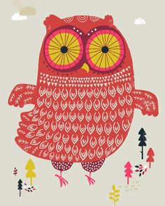 Limited Edition Owl Prints by Dan Walters Peagreen * Bright and Cheery Hoot-Hoot mobile for you to print out and make Thank You Mini. Owl Illustration, Illustrations, Owl Bird, Bird Art, Funny Owls, Whimsical Owl, Owl Nursery, Owl Pictures, Owl Always Love You