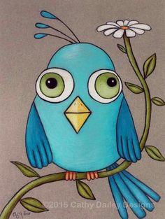 Artículos similares a Blue Bird On A Daisy 8 X 10 Custom Matted Print en Etsy Bird Drawings, Easy Drawings, Pencil Drawings, Pencil Sketching, Realistic Drawings, Bird Wall Art, Art Wall Kids, Art For Kids, Drawing For Kids