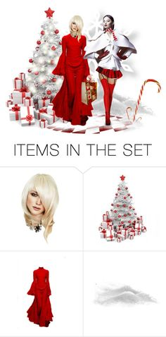 """Christmas Duo"" by pdunfee ❤ liked on Polyvore featuring art"