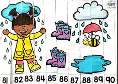 NUMBER TO 100 Do you need help to teach number sequences for numbers 1 to 100? This fun 100th Day of School Math Number Puzzles 1 to 100 is perfect for you! This resource will help your kids to learn their number 1-100 in a fun way! Subtraction Activities, Number Activities, Spring Activities, Math Games, Learning Numbers Preschool, Preschool Age, Preschool Activities, Number Puzzles, Math Numbers