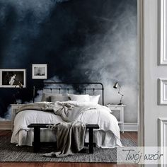 Like if you are Excited! Oh Yeah Home Decor Bedroom, Bedroom Wall, Interior Design Living Room, Living Room Decor, Kitchen Interior, My New Room, Ombre Walls, Paint Techniques Wall, Bedrooms