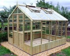 Swallow Raven 8x6 Greenhouse with Double Doors FREE INSTALLATION  £1697.00  http://www.greenhousestores.co.uk/Swallow-Raven-8x6-Wooden-Greenhouse.htm