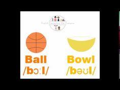 Improve your pronunciation: Ball VS Bowl For Everyone, Esl, Improve Yourself, English, English Language, England
