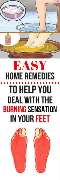EASY HOME REMEDIES TO HELP YOU DEAL WITH THE BURNING SENSATION IN YOUR FEET