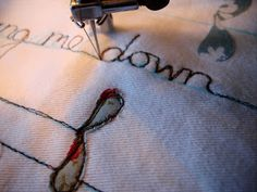 Free Motion embroidery using a sewing machine. Love the feeling to be free and creative.