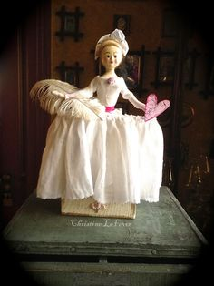 queen anne doll with valentine heart ~ by christine lefever