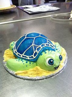 Fondant free turtle cake