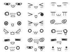 Expresiones Kawaii, Caritas Kawaii, Dibujar Anime, Mirada Del Kawaii, Mirada Chibi, Con Google, Ojos Animados, Animados Tiernos, Dibujos Kwaii