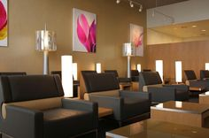 Lounges and Patios : Relaxation area in the Terminal lounge at Air France, Architecture Design, Relax, Lounges, Interior Design, Table, Furniture, Salons, Home Decor