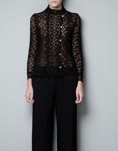 LACE TOP - Shirts - Woman - ZARA United States
