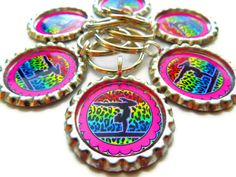 (6) PERSONALIZED GYMNASTICS Party Favor Backpack Charm by AllSports, $18.00