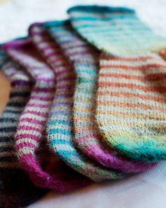Ravelry: camillahoel's Rainbow socks -- night and day